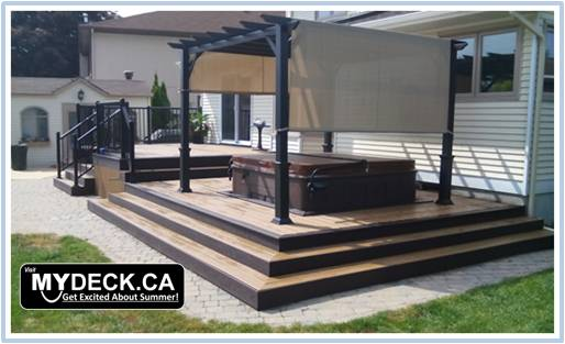beautiful composite hottub deck