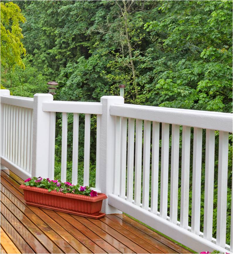 Composite deck railing installation in huntclub for Composite deck railing