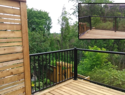 2nd Tier Deck Build with Trex Escapes Under Deck Ceiling System in Orleans, Ontario