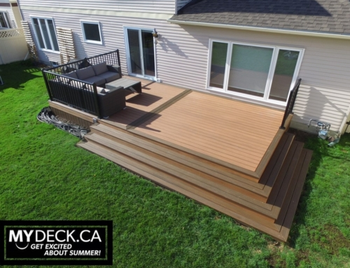 Wrap Around Stairs Trex Composite Deck Build in Orleans, Ontario
