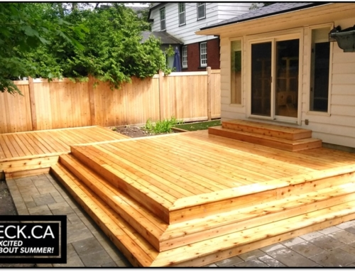 Ottawa Cedar Deck Build with Wrap Around Stairs