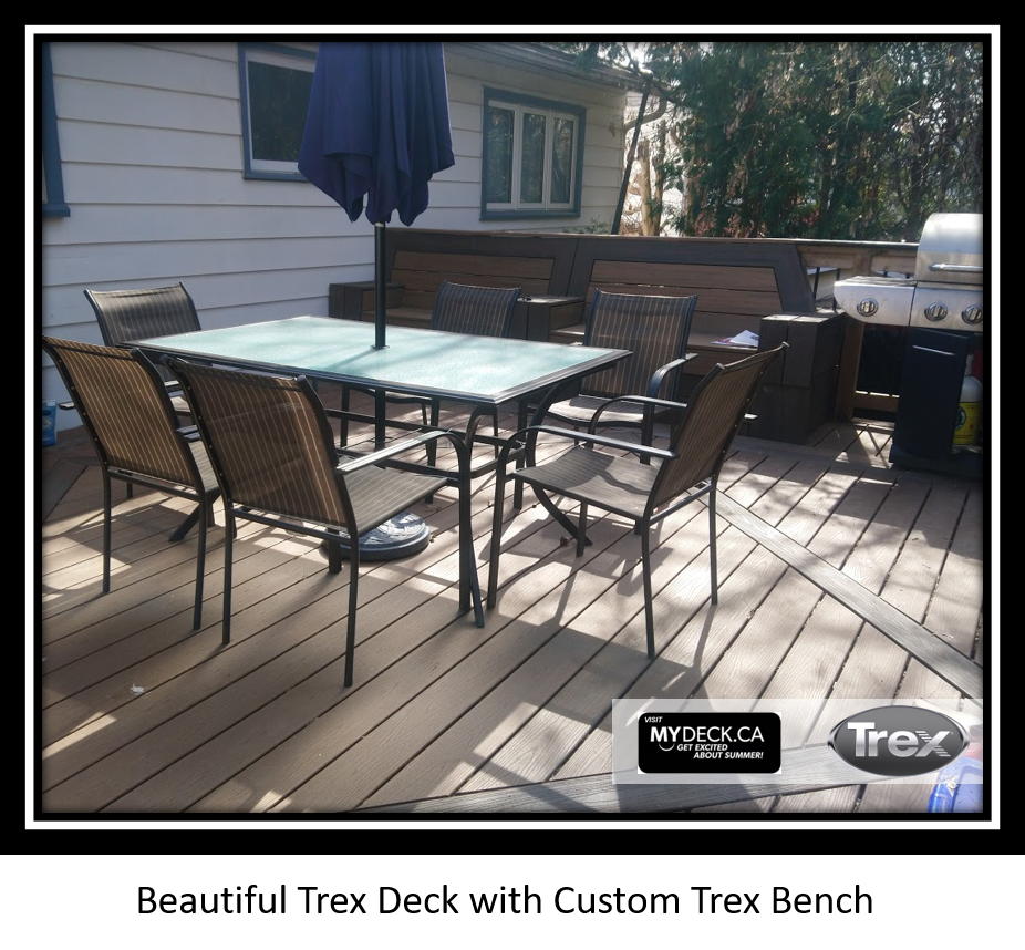 Trex Transcend Deck & Bench Build in Nepean, Ontario